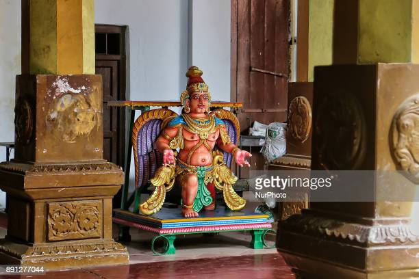 Figure of a Garuda at the Sri Munneswaram Devasthanam Hindu temple complex in Sri Lanka This temple complex has been in existence at least since 1000...