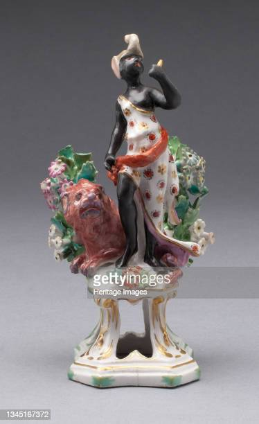Figure of Africa, Bow, circa 1766. Artist Bow Porcelain Factory.