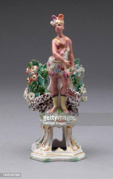 Figure of America, Bow, circa 1766. Artist Bow Porcelain Factory.