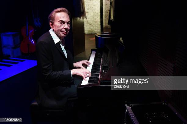 Figure of Andrew Lloyd Webber in 'Madame Tussauds New York Presents Broadway' experience as Madame Tussauds New York brings back a taste of Broadway...