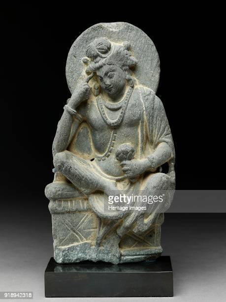 Figure of Avalokiteshvara in pensive pose 3rd century Dimensions height x width x depth with mount 28 x 127 x 45 cm maxheight x width x depth 255 x...