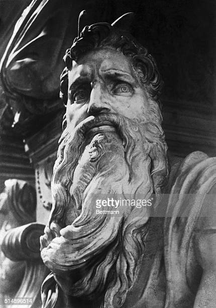 Figure of Moses from Tomb of Pope Julius II San Pietro in Vincoli Rome Italy