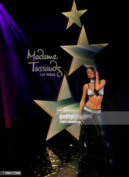 A figure of RB Princess Aaliyah is unveiled at Madame Tussauds Las Vegas at The Venetian Las Vegas on August 21 2019 in Las Vegas Nevada