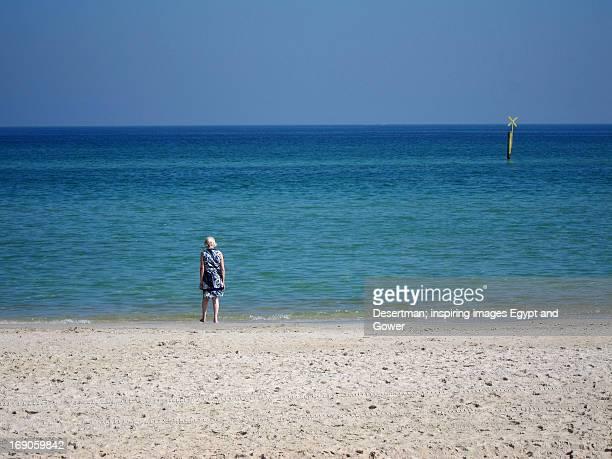 Figure on chelsea beach