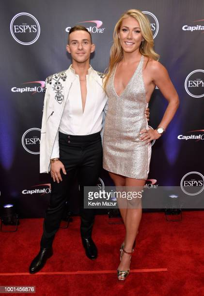 Figure skater Adam Rippon and skier Mikaela Shiffrin attend The 2018 ESPYS at Microsoft Theater on July 18, 2018 in Los Angeles, California.