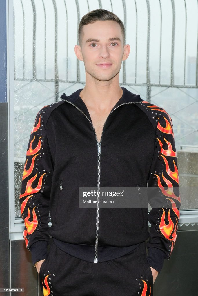 Figure skater Adam Rippon poses for a photo to celebrate the 'Dancing With The Stars' Finale at The Empire State Building on May 22, 2018 in New York City.