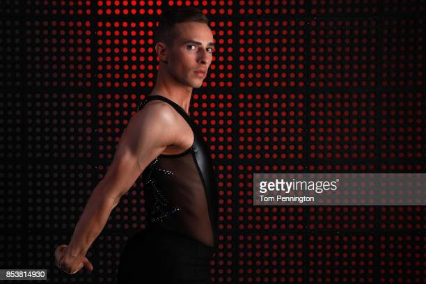 Figure skater Adam Rippon poses for a portrait during the Team USA Media Summit ahead of the PyeongChang 2018 Olympic Winter Games on September 25,...