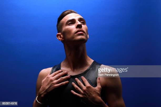 Figure skater Adam Rippon poses for a portrait during the Team USA Media Summit ahead of the PyeongChang 2018 Olympic Winter Games on September 25...