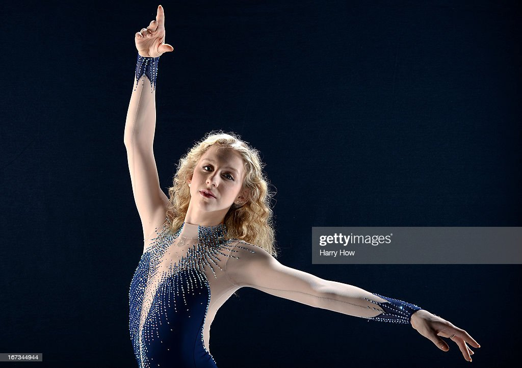Figure skater Agnes Zawadzki poses for a portrait during the USOC
