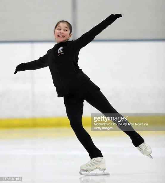 Figure skater Alysa Liu practices at the Oakland Ice Center on Monday Dec 11 in Oakland Calif