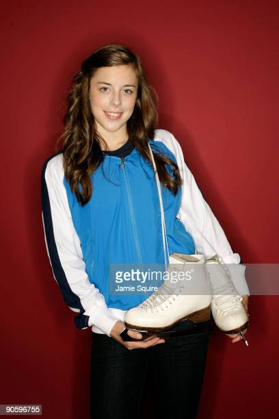 Figure Skater Ashley Wagner poses for a portrait during Day Two of the 2010 US Olympic Team Media Summit at the Palmer House Hilton on September 11...