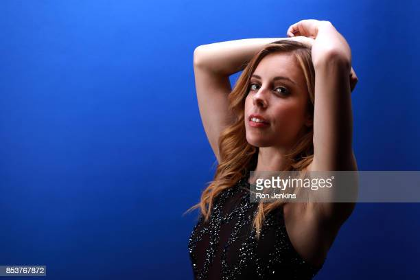 Figure skater Ashley Wagner poses for a portrait during the Team USA Media Summit ahead of the PyeongChang 2018 Olympic Winter Games on September 25...