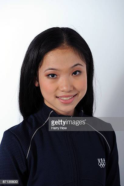 Figure skater Caroline Zhang poses for a portrait during the NBC/USOC Promotional Photo Shoot on May 12 2009 at Smashbox Studios in Los Angeles...