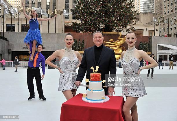 Figure skater Collenn McGuire figure skater Josiah Modes Rockette Rhonda Kaufman Malkin Patina Restaurant Group CEO Nick Valenti and Rockette Karen...