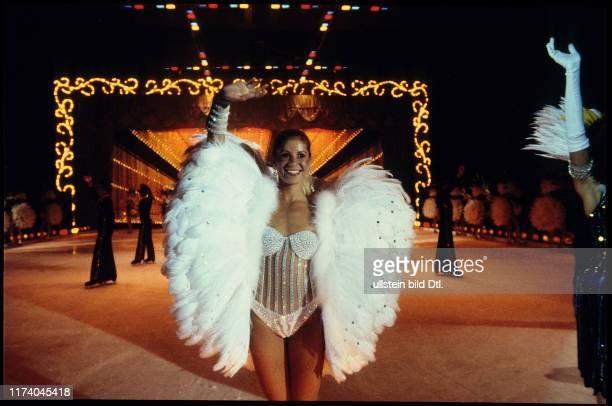 "Figure skater Denise Biellmann ath the show ""Holiday on ice"" 1981"