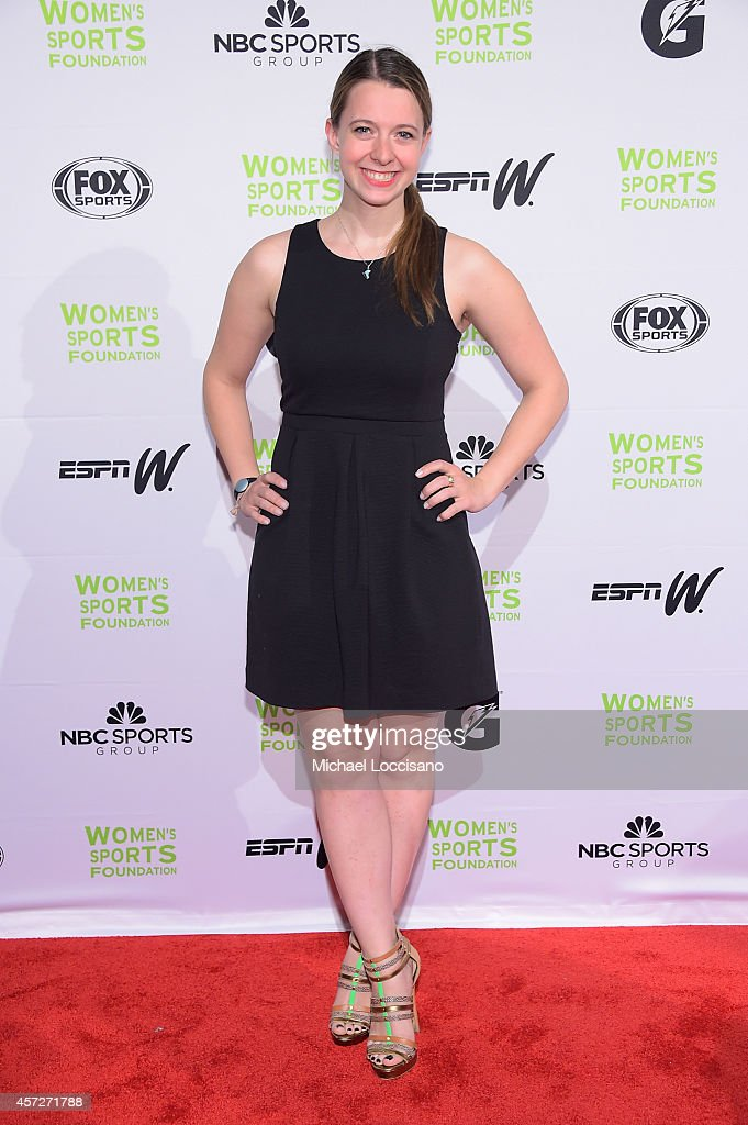 Figure Skater Emily Hughes attends the Women's Sports Foundation's 35th Annual Salute to Women In Sports awards, a celebration and a fundraiser to ensure more girls and women have access to sports, at Cipriani Wall Street on October 15, 2014 in New York City.