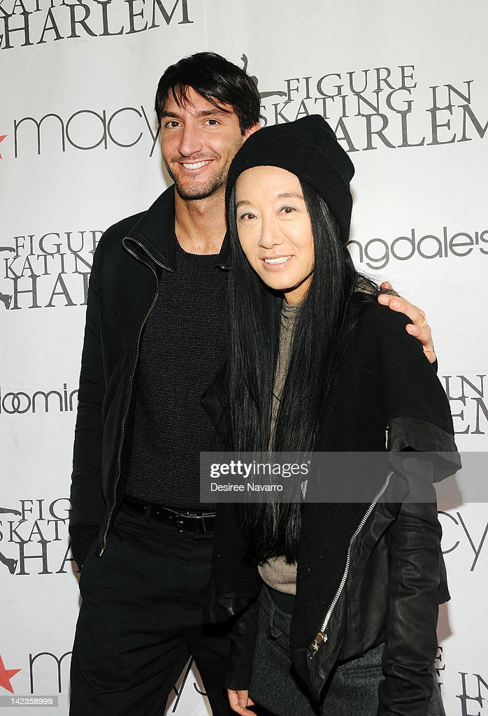 Figure Skater Evan Lysacek And Fashion Designer Vera Wang Attend The News Photo Getty Images