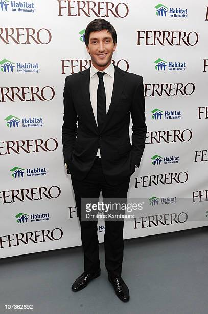Figure Skater Evan Lysacek attends the Ferrero Chocolates Fashion Event at Top of the Rock's 620 Loft Garden on December 6 2010 in New York City