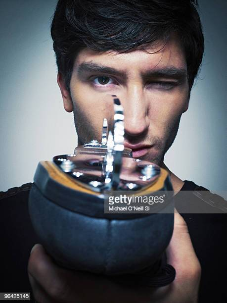 Figure skater Evan Lysacek poses at a portrait session for Sports Illustrated in Chicago IL on February 8 2010 CREDIT MUST READ O Photo/ Sports...
