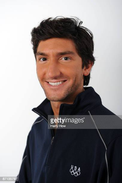Figure skater Evan Lysacek poses for a portrait during the NBC/USOC Promotional Photo Shoot on May 12 2009 at Smashbox Studios in Los Angeles...