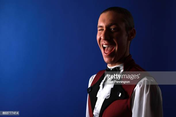 Figure skater Jason Brown poses for a portrait during the Team USA Media Summit ahead of the PyeongChang 2018 Olympic Winter Games on September 25...