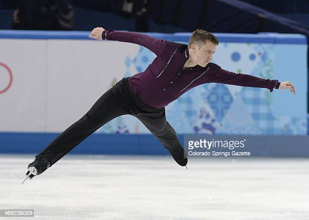 US figure skater Jeremy Abbott performs his short program at the Iceberg Skating Palace during the Winter Olympics in Sochi Russia Thursday Feb 13...