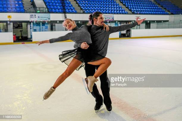 Figure skater John Kerr and Nina Ulanova during final rehearsals for the world premiere ice skating performance of The Creative Spirit of John Curry...