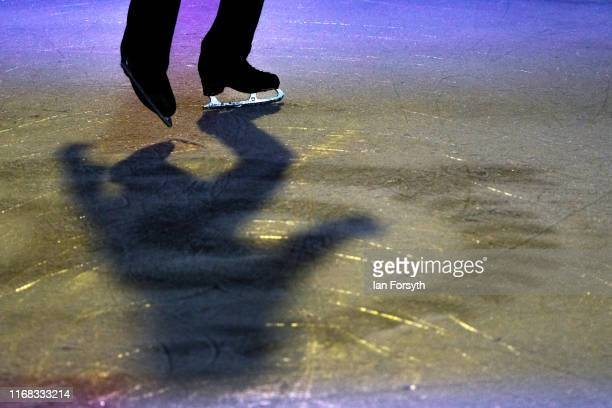 Figure skater John Kerr performs during final rehearsals for the world premiere ice skating performance of The Creative Spirit of John Curry at the...