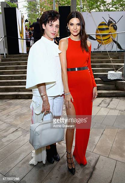 Figure Skater Johnny Weir and Kendall Jenner attend the 2015 Fragrance Foundation Awards at Alice Tully Hall at Lincoln Center on June 17 2015 in New...