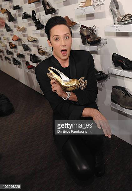 Figure skater Johnny Weir attends FFANY Shoes on Sale Benefit for Breast Cancer Research and Education presented by QVC at Frederick P Rose Hall Jazz...