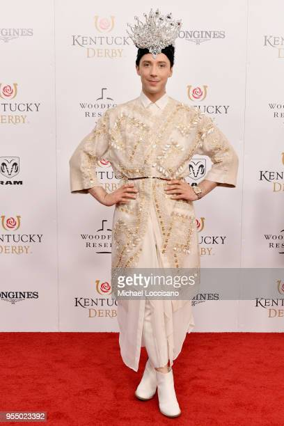 Figure skater Johnny Weir attends Kentucky Derby 144 on May 5 2018 in Louisville Kentucky
