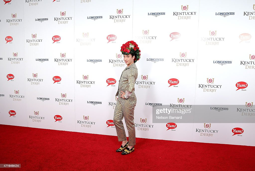Figure skater Johnny Weir attends the 141st Kentucky Derby at Churchill Downs on May 2, 2015 in Louisville, Kentucky.