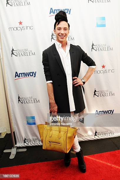 Figure skater Johnny Weir attends the 2013 Skating with the Stars Benefit Gala at Trump Rink at Central Park on April 8 2013 in New York City