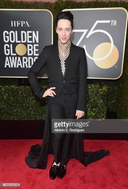Figure Skater Johnny Weir attends The 75th Annual Golden Globe Awards at The Beverly Hilton Hotel on January 7 2018 in Beverly Hills California