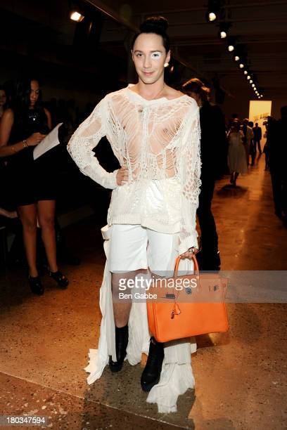 Figure skater Johnny Weir attends The Blonds fashion show during MADE Fashion Week Spring 2014 at Milk Studios on September 11 2013 in New York City
