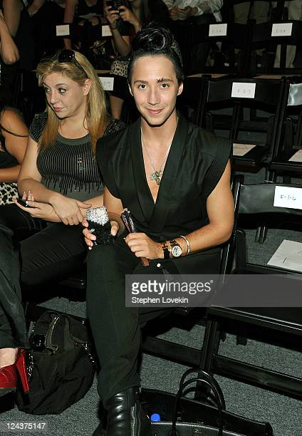 Figure skater Johnny Weir attends the General Idea Spring 2012 fashion show during MercedesBenz Fashion Week at The Studio at Lincoln Center on...