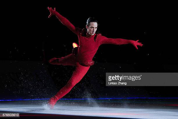 Figure Skater Johnny Weir performs during the 2016 'Amazing on Ice' at Capital Indoor Stadium on July 15 2016 in Beijing China