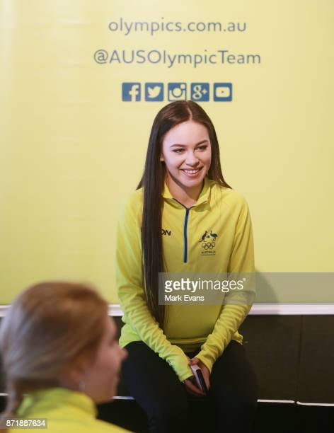 Figure skater Kailani Craine before the Australia Winter Olympic Athlete Announcement at Museum of Contemporary Art on November 9 2017 in Sydney...