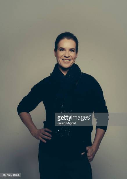 Figure skater Katarina Witt poses for a portrait on February 2018 in Monaco France