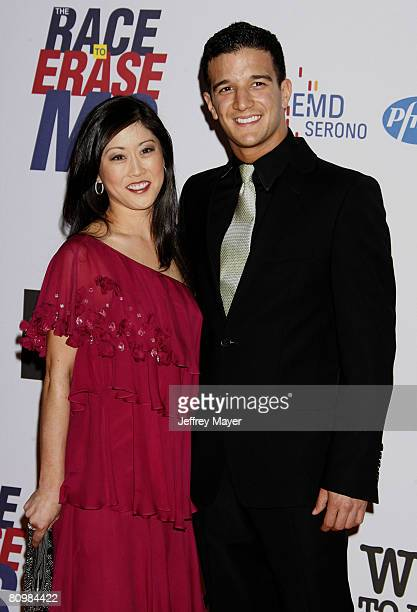 Figure skater Kristi Yamaguchi and dancer Mark Ballas arrive at the 15th Annual Race To Erase MS on May 2, 2008 at the Century Plaza Hotel in Century...