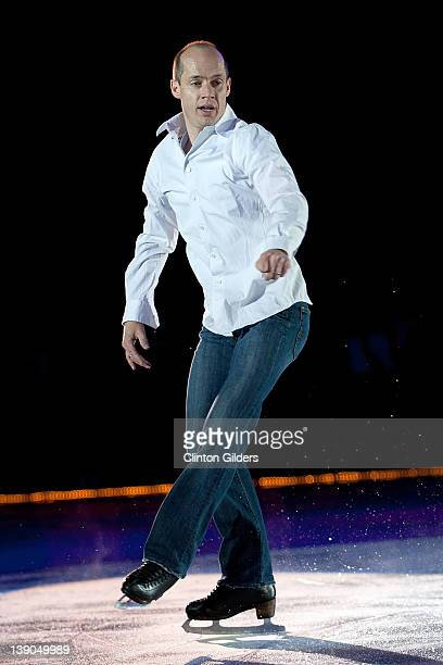 Figure skater Kurt Browning performs during Spotlight Productions Rock The Ice III at Peterborough Memorial Centre on February 15 2012 in...