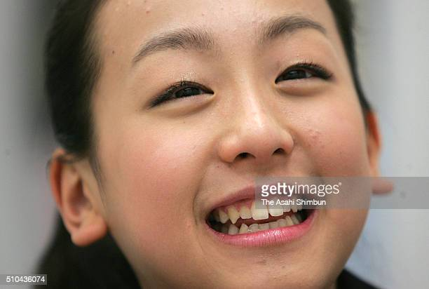 Figure skater Mao Asada speaks during the Asahi Shimbun interview on December 5 2005 in Tokyo Japan