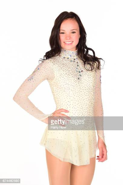Figure skater Mariah Bell poses for a portrait during the Team USA PyeongChang 2018 Winter Olympics portraits on April 28 2017 in West Hollywood...
