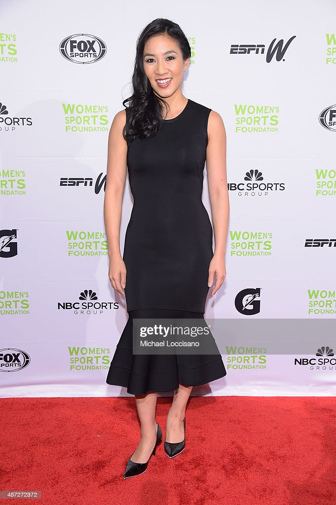 Figure Skater Michelle Kwan attends the Women's Sports Foundation's 35th Annual Salute to Women In Sports awards, a celebration and a fundraiser to ensure more girls and women have access to sports, at Cipriani Wall Street on October 15, 2014 in New York City.