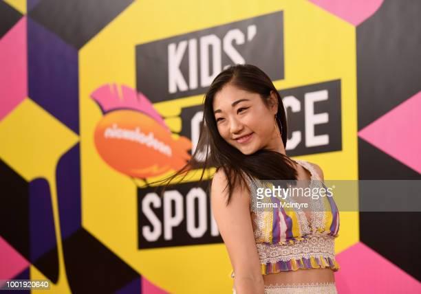 Figure skater Mirai Nagasu attends the Nickelodeon Kids' Choice Sports 2018 at Barker Hangar on July 19 2018 in Santa Monica California