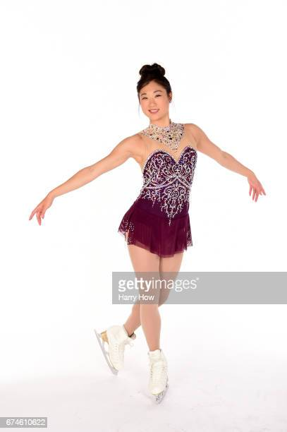 Figure skater Mirai Nagasu poses for a portrait during the Team USA PyeongChang 2018 Winter Olympics portraits on April 28 2017 in West Hollywood...