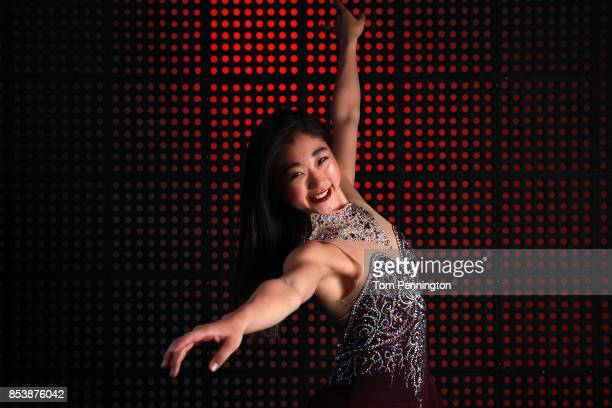 Figure Skater Mirai Nagasu poses for a portrait during the Team USA Media Summit ahead of the PyeongChang 2018 Olympic Winter Games on September 25...