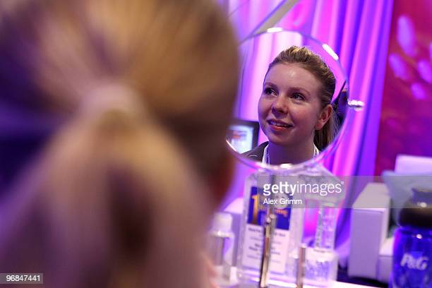 Figure skater Rachael Flatt gets her hair done at the PG Family Home on Februiary14 2010 during the Olympic Winter Games in Vancouver Canada