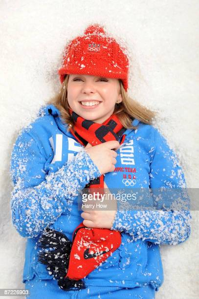 Figure skater Rachael Flatt poses for a portrait during the NBC/USOC Promotional Photo Shoot on May 13 2009 at Smashbox Studios in Los Angeles...