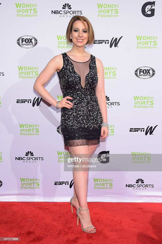 Figure Skater Sarah Hughes attends the Women's Sports Foundation's 35th Annual Salute to ensure more girls and women have access to sports, at Cipriani Wall Street on October 15, 2014 in New York City.
